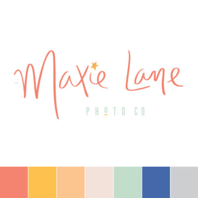 Maxie Lane Semi-Custom Brand Logo Template Design by Pop and Grey
