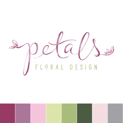 Hand Drawn Floral Semi-Custom Secondary Brand Design by Pop and Grey
