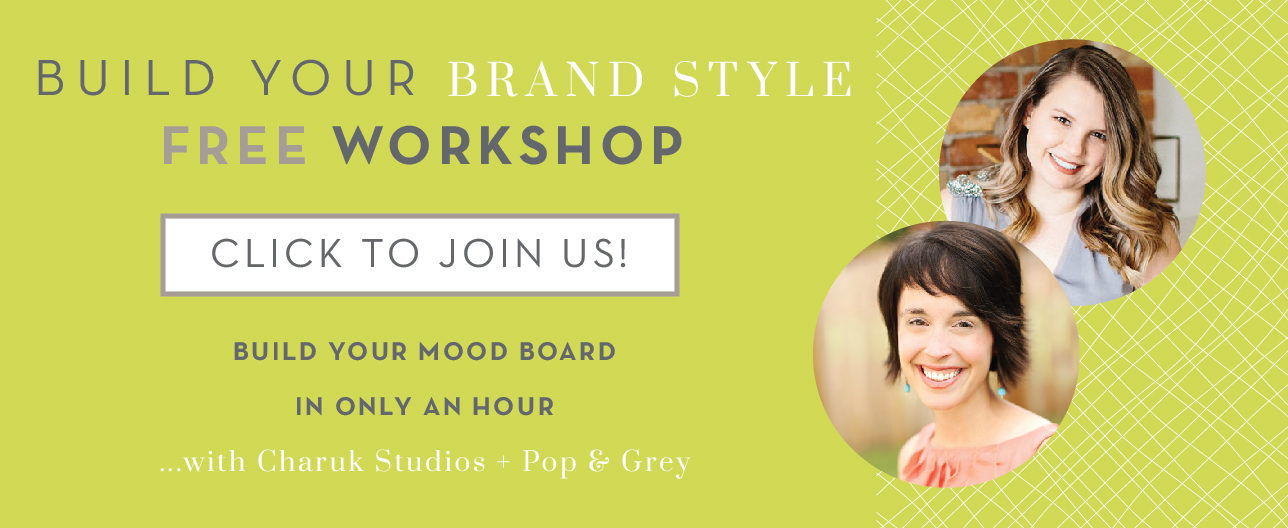 build your brand style workshop with pop and grey and charuk studios